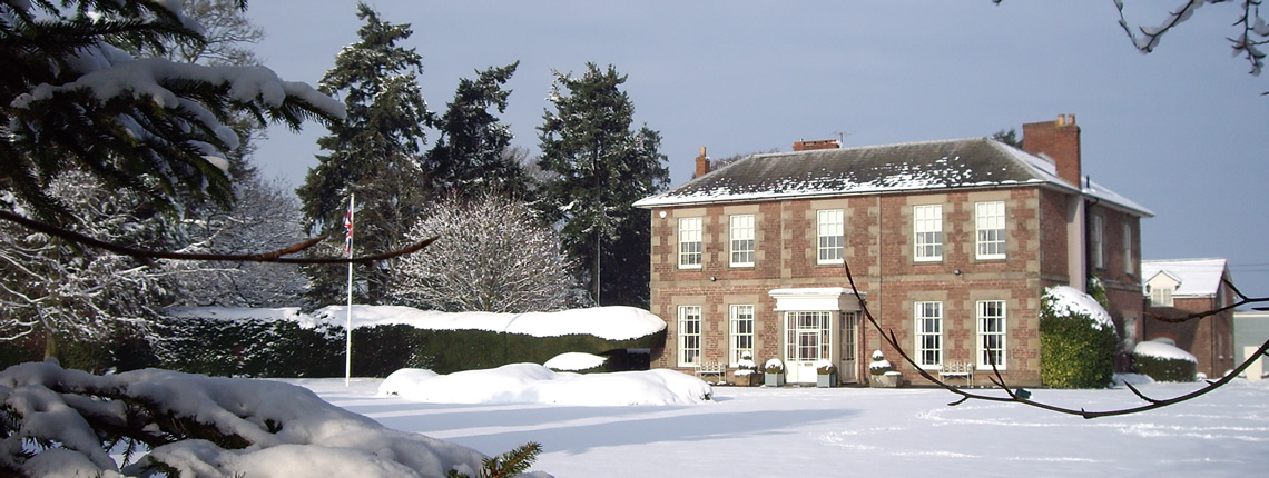 Wharton Lodge Cottages in winter, luxury holiday cottages in the Wye Valley, close to the Forest of Dean
